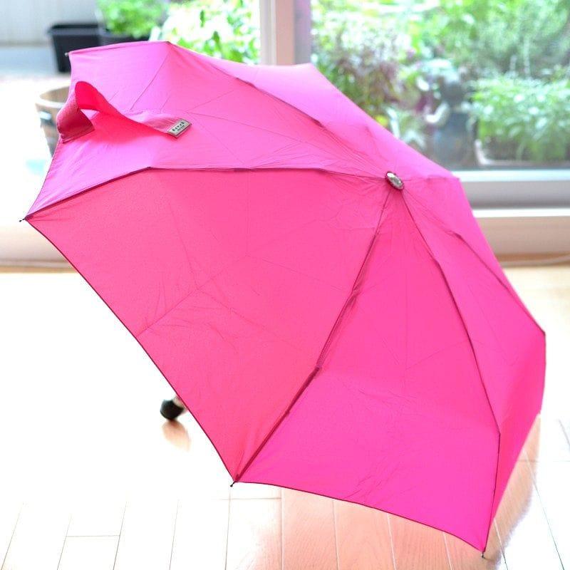 折りたたみ傘 ダべック トラベラー 自動開閉式 雨傘 高級 ピンク フクシア 桃 THE DAVEK TRAVELER FUCHSIA PINK Umbrella