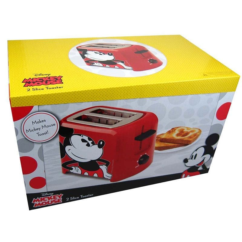 Two pieces of Disney classical music Mickey Mouse ware toaster Disney Classic Mickey Mouse Toaster DCM-21