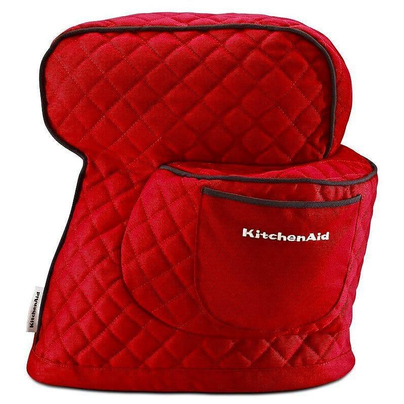 キッチンエイド チルトヘッドタイプ 4.5qt 5qt スタンドミキサー用 カバー エンパイアレッド KitchenAid KSMCT1ER Fitted Stand Mixer Cover, Empire Red