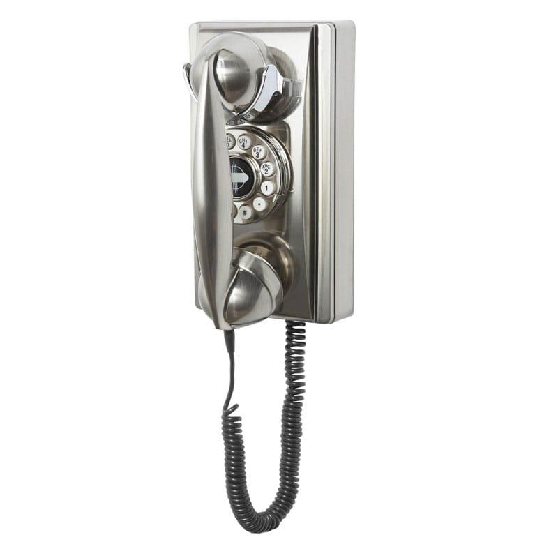 アメリカ クロスリー ウォールフォン クラシック電話 プッシュボタン式 Crosley CR55 Wall Phone with Push Button Technology