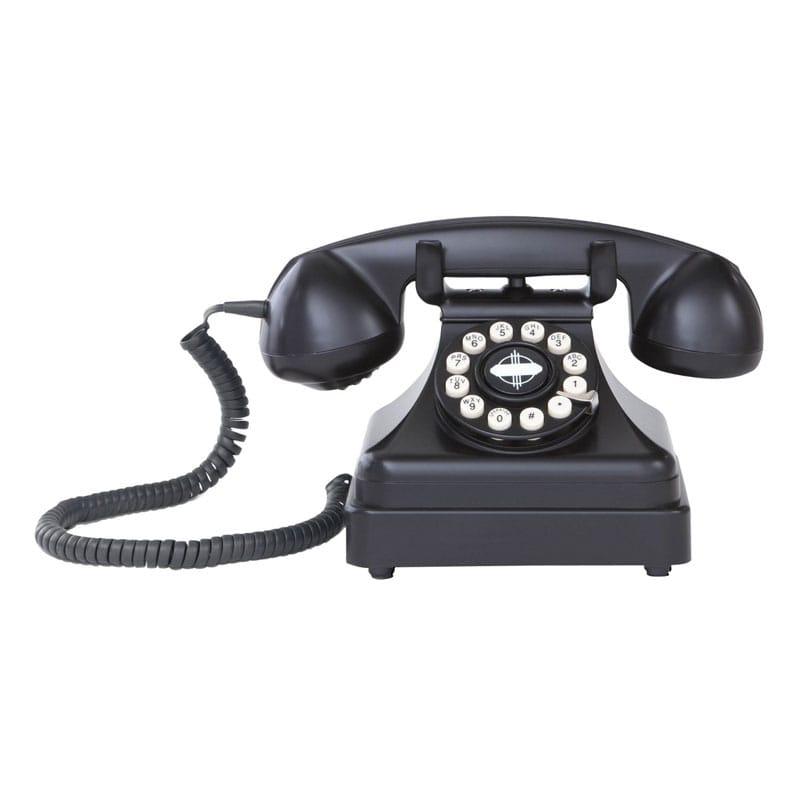 アメリカ クロスリー ケトルクラシックデスク電話 プッシュボタン式 ブラック Crosley CR62-BK Kettle Classic Desk Phone with Push Button Technology