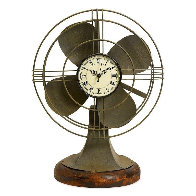 アイマックス サッチャービンテージファン型時計 IMAX Thatcher Vintage Fan Clock