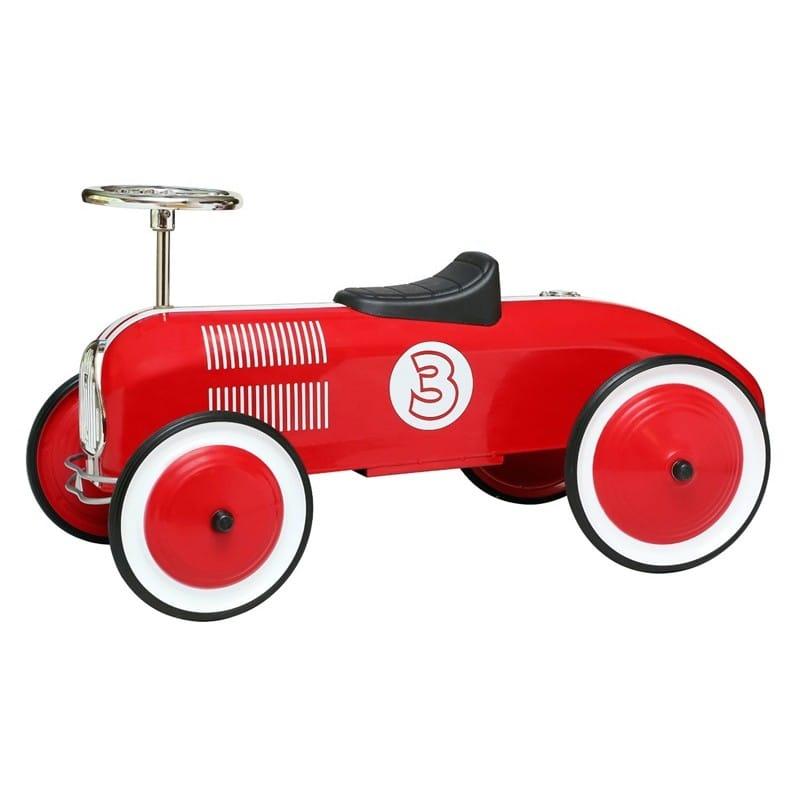 【組立要】 モルガン・サイクルストライプレーサー・フットフロアチャイルズライドオンカー・レッド Morgan Cycle Stripe Racer Foot to Floor Childs Ride On Car・Red
