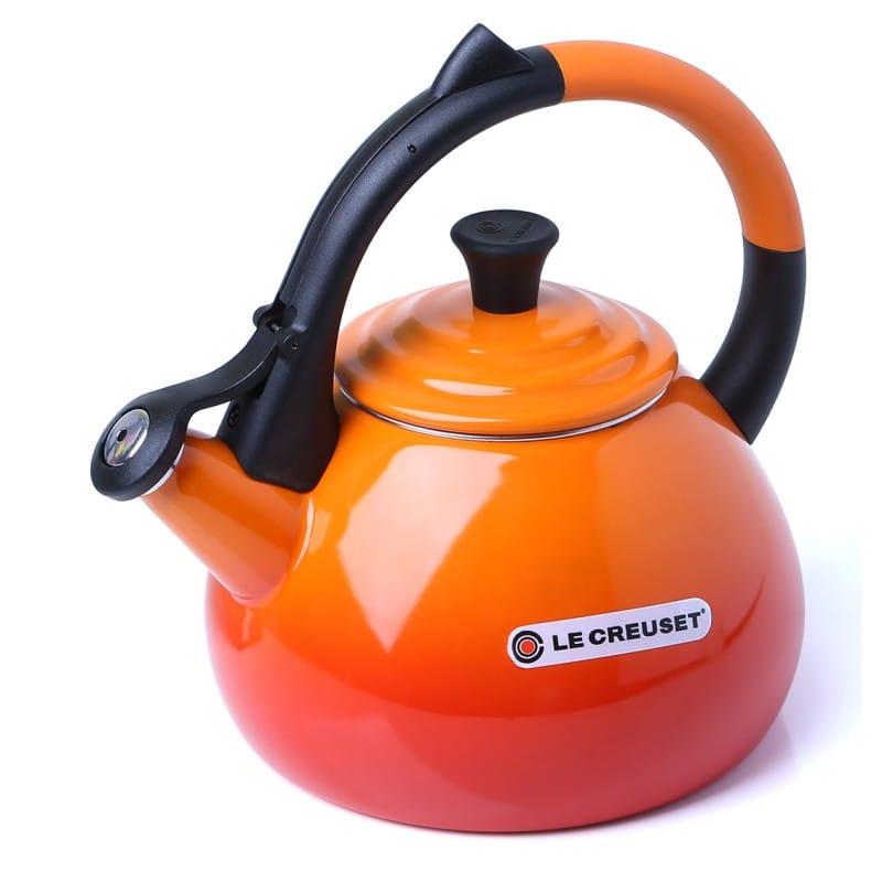 ルクルーゼ ウーロン 笛吹きケトル やかん オレンジ 1.5L IH対応 Enamel On Steel 1.6 Qt. Oolong Tea Kettle Color: Flame