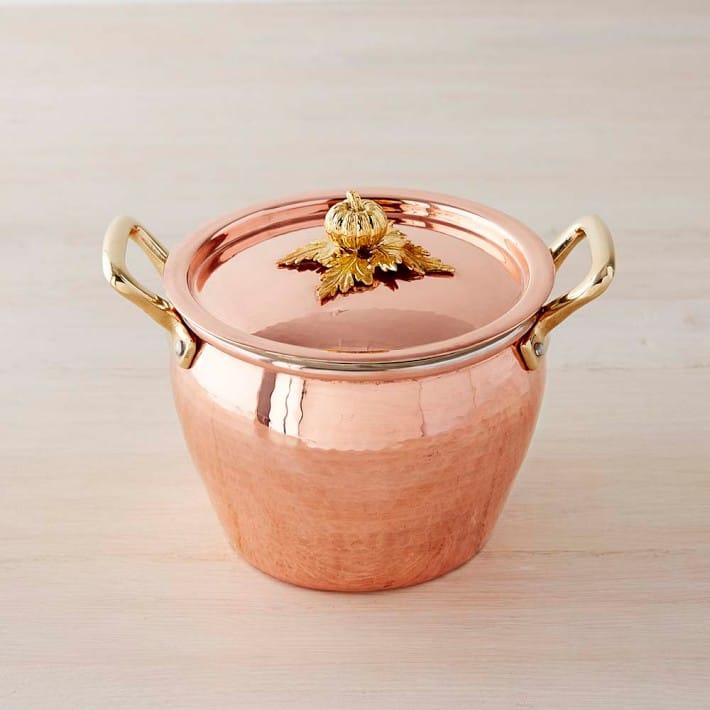 ルフォーニ 銅製 鍋 ストックポット パンプキンRuffoni Pumpkin Copper Stock Pot, 3 1/2-Qt.