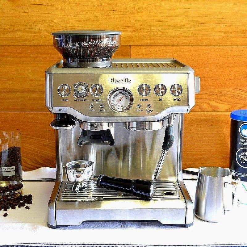 エスプレッソマシン ブレビル 本格 豆挽き付 カプチーノ Breville BES870XL Barista Express Espresso Machine with Grinder 家電