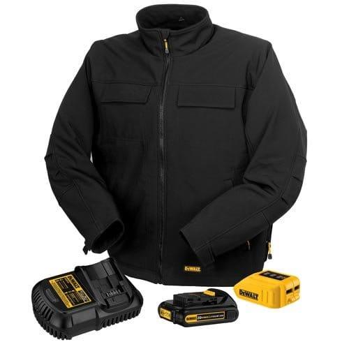 ヒートジャケット 充電式 バッテリー 暖房 DEWALT DCHJ060C1-M 20V/12V MAX Black Heated Jacket Kit