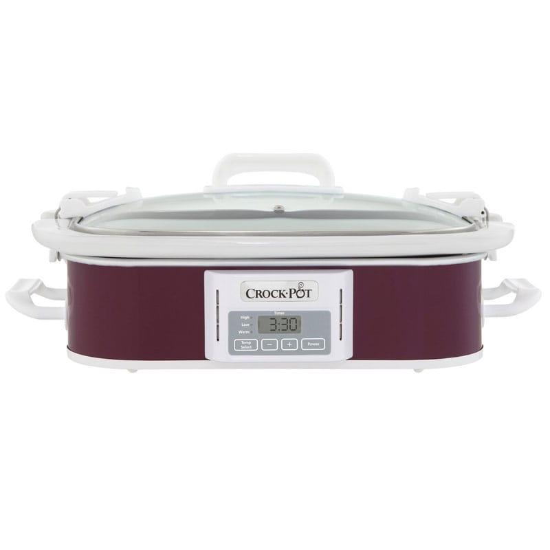 クロックポット スロークッカー 約3L 深紫 Crockpot SCCPCCP350-CR Slow Cooker, 3.5 quart, Plum 家電