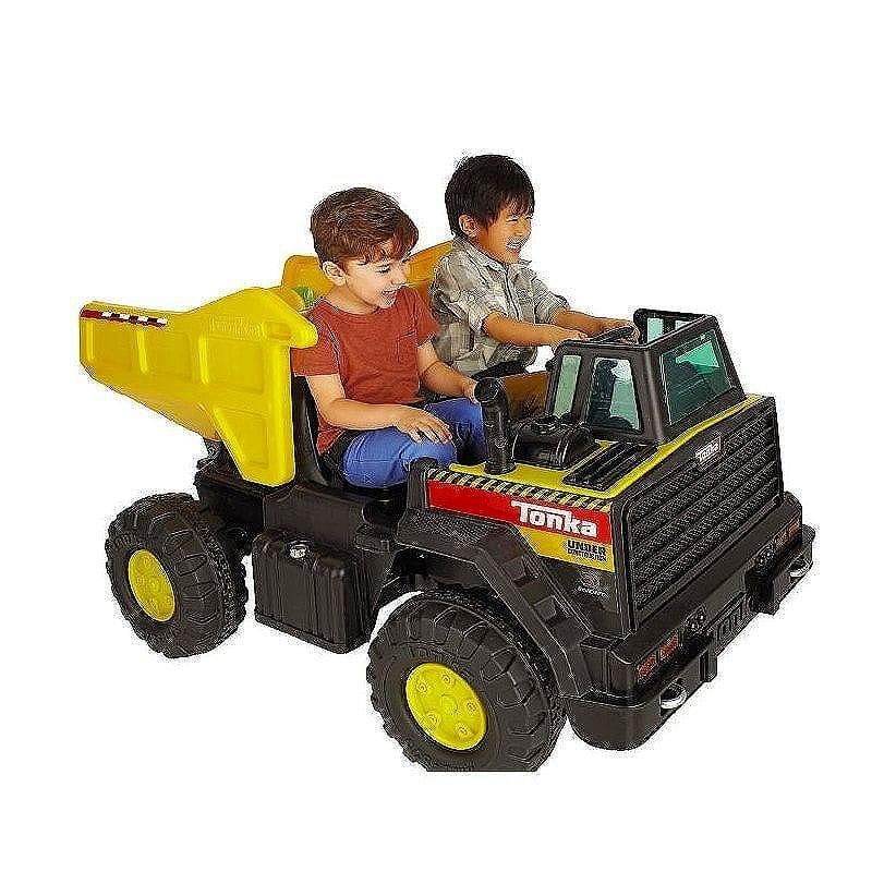 トンカ ダンプトラック 子供用電気自動車 12Vバッテリー Tonka Dump Truck 8801-96 家電