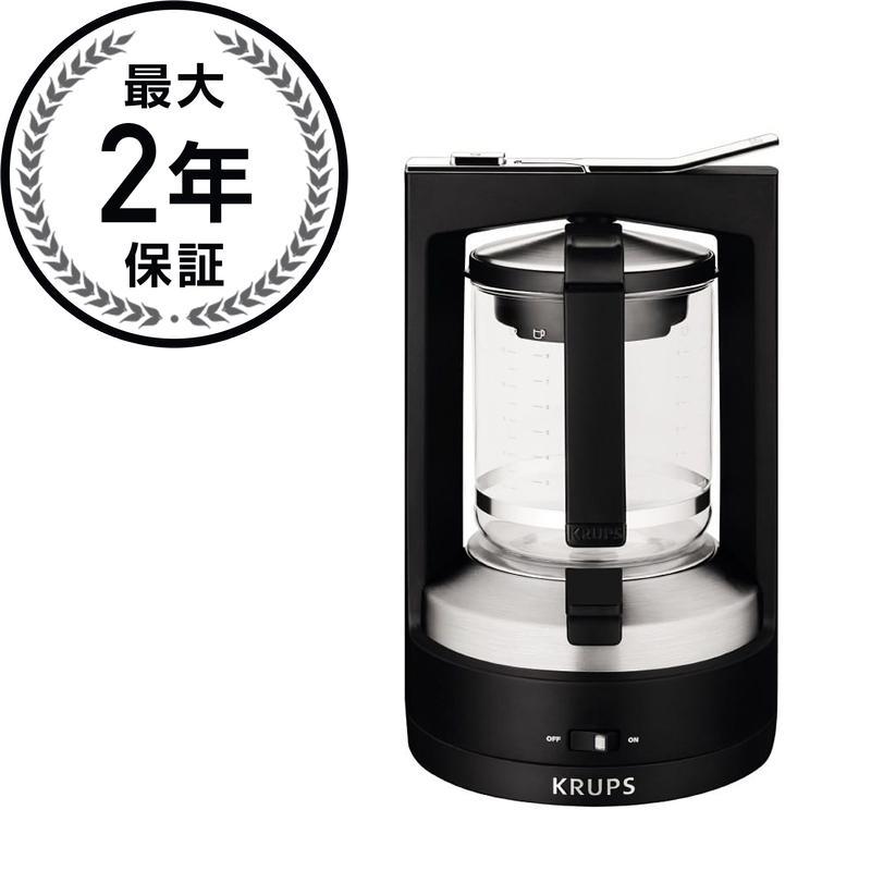 クルプス ブリューワーフィルターコーヒーメーカー 10カップ ブラック KRUPS KM4688 Moka Brewer Filter Coffee Maker, 10-Cup, Black 家電