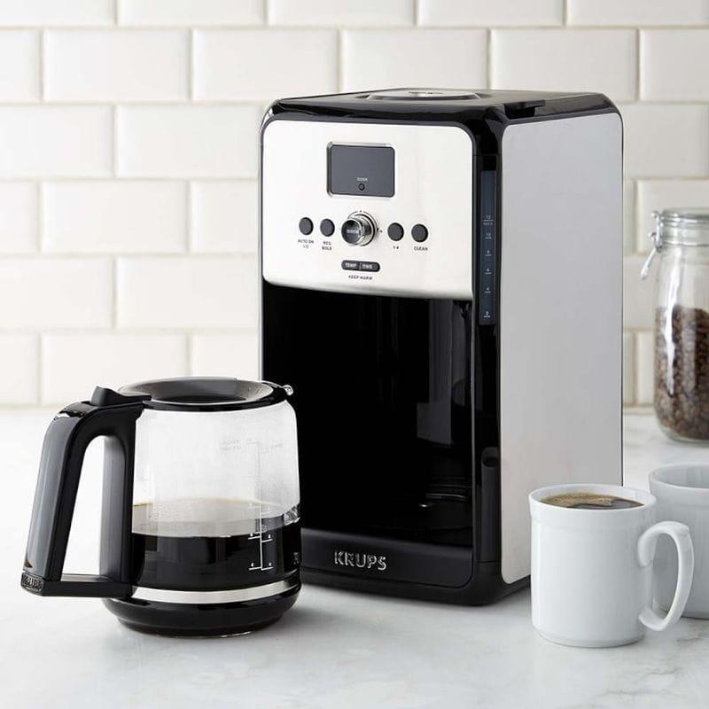 クラップス コーヒーメーカー Krups Savoy Stainless-Steel 12-Cup Programmable Coffeemaker 家電
