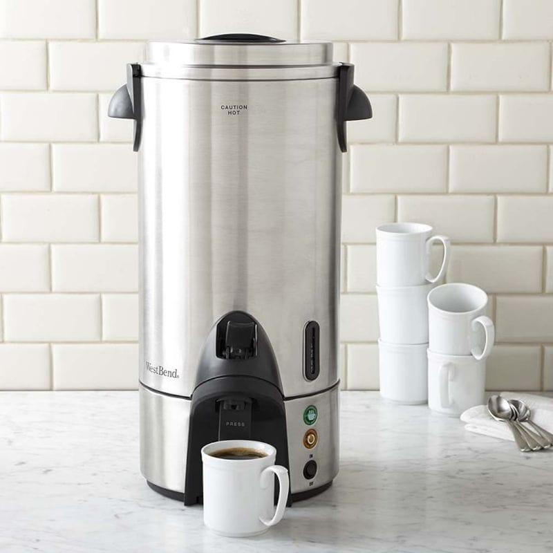 大きい コーヒーメーカー サーバー 15L ディスペンサー ホテル レストラン パーティー 業務 イベント 結婚式 ウエストベンド West Bend 100-Cup Commercial Coffeemaker 54100 家電