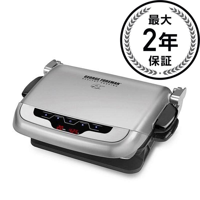 ジョージフォアマン GRP4EP プラチナエボルブグリル Platinum Evolve Grill with 2 Grill Plates, 1 Deep-Dish Bake Pan and 1 Mini Burger Insert GRP4EP 家電