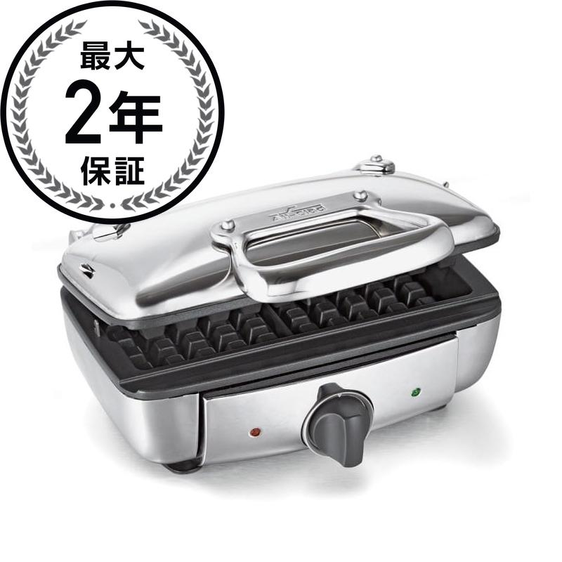 オールクラッド ワッフルメーカー 2枚焼 All-Clad Stainless Steel Belgian Waffle Maker with 7 Browning Settings, 2-Square 家電