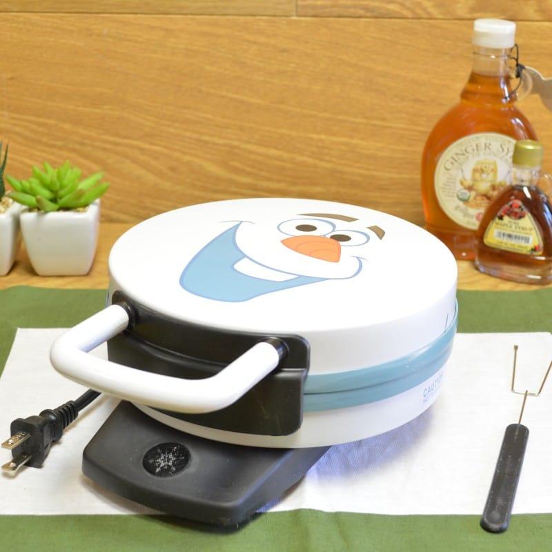 ディズニー フローズン オラフ ワッフルメーカー アナと雪の女王 アナ雪 Disney DFR-15 Olaf Frozen Waffle Maker, White 家電
