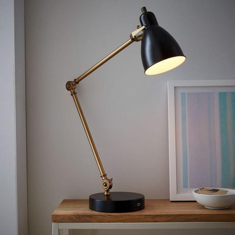 デスクランプ ライト Industrial Task Table Lamp + USB