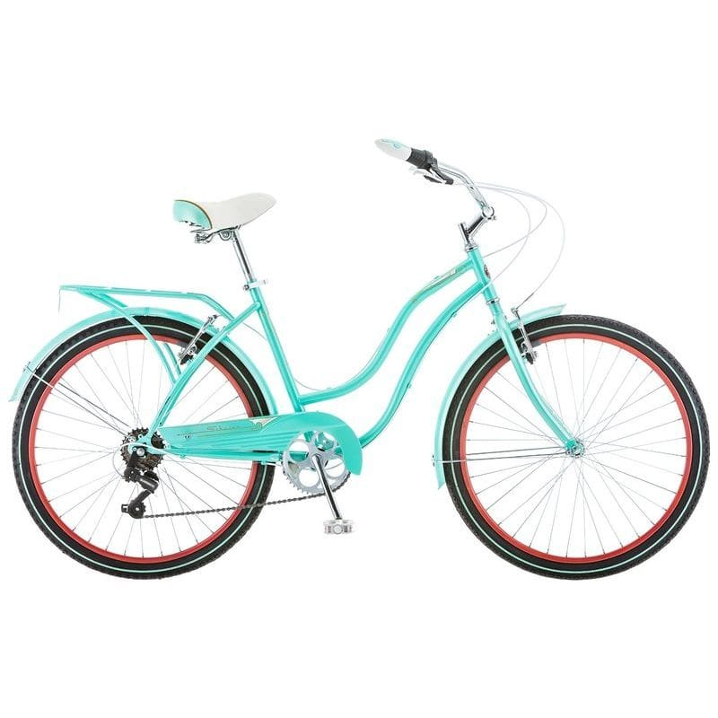 自転車 Schwinn 26インチ Ladies Perla 7 Speed Cruiser Bike, 26-Inch, Blue