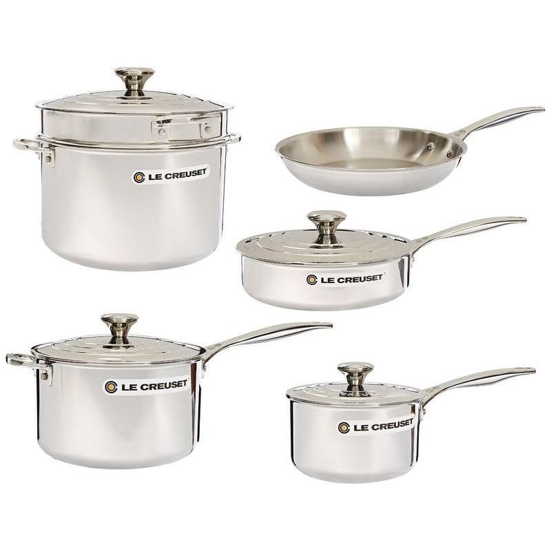 ル・クルーゼ Le クックウェアー10点セット Stainless ステンレススチール ルクルーゼ Le Cookware Creuset 10-Piece Tri-Ply Stainless Steel Cookware Set, 甚目寺町:10dd9904 --- sunward.msk.ru