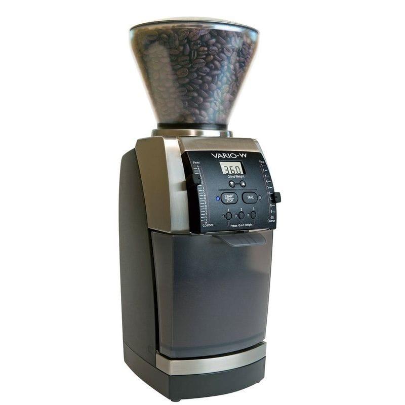 バラッツァ コーヒーグラインダー 豆ひき 豆挽き Baratza Vario-W 986 - Flat Ceramic Burr Coffee Grinder (with Shut-off Hopper and Bin) 家電