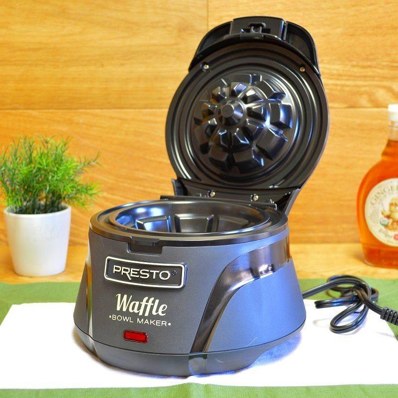 プレスト ボウルワッフルメーカー Presto 03500 Belgian Bowl Waffle Maker, Black 家電