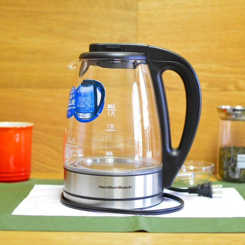 ハミルトンビーチ ガラス 電気ケトル 約1.7L Hamilton Beach 40865 Glass Electric Kettle, 1.7-Liter 家電
