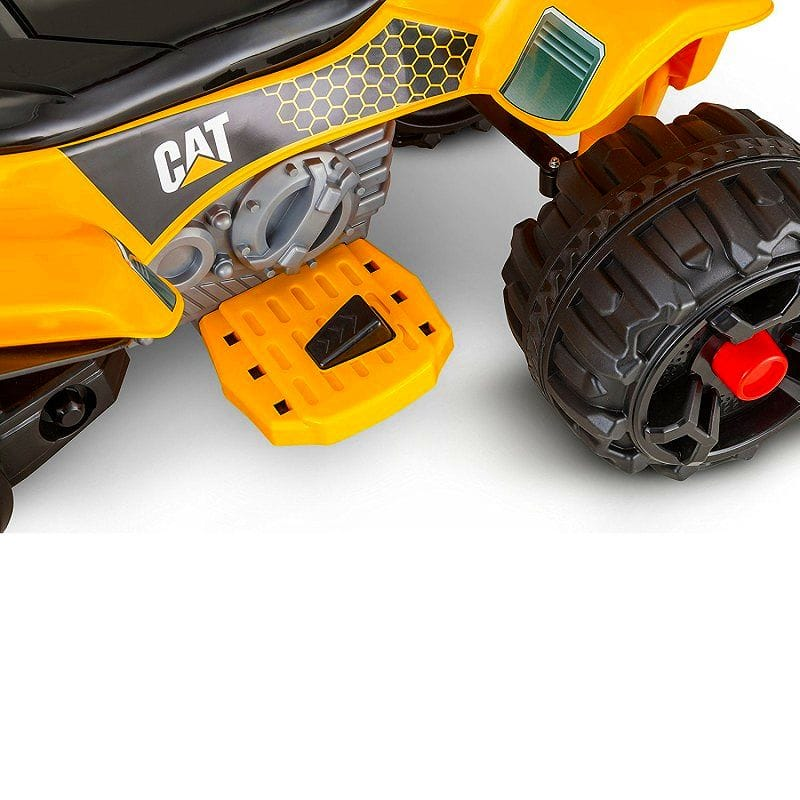 Age 3 years old - Kid Trax Caterpillar 12V Power Quad Ride On which is  targeted for a train movement car with kid trucks CAT ATV 12 volts battery