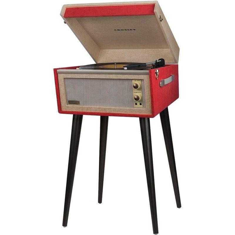 クロスリー バミューダ ポータブル ターン テーブル 赤 Crosley CR6233A-RE Dansette Bermuda Portable Turntable with Aux-In, Red 家電