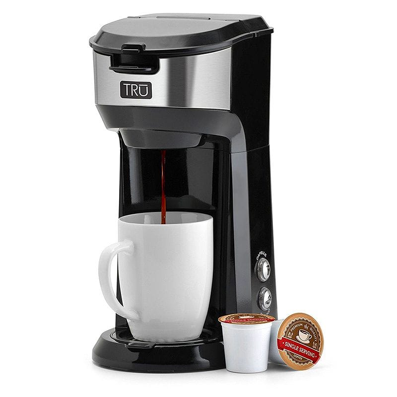 コーヒーメーカー シングルサーブ Tru CM-1177 Single Serve Brew System, Black 家電
