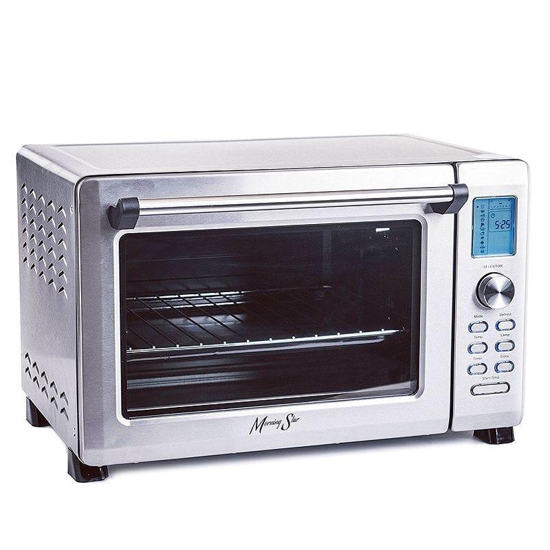 大容量 コンベクショントースターオーブン デジタル Morning Star - Extra Large -12-Slice Countertop Digital Infrared Convection Toaster Oven, Stainless Steel 家電