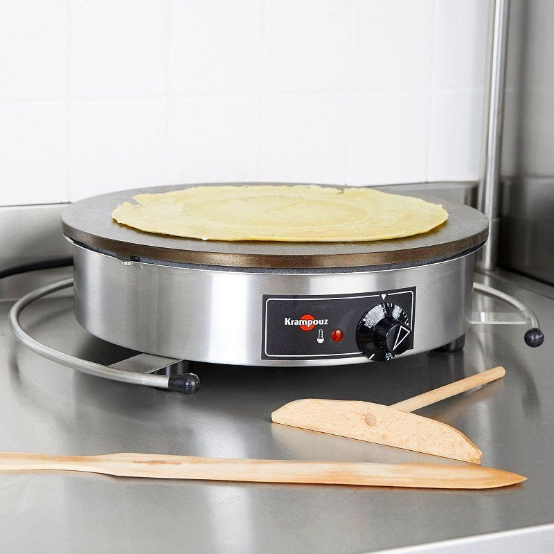 業務品質 クレープメーカー 直径40cm クランプーズ社 Krampouz CEBIR4 16 Inch Crepe Maker Griddle【日本語説明書付】 家電
