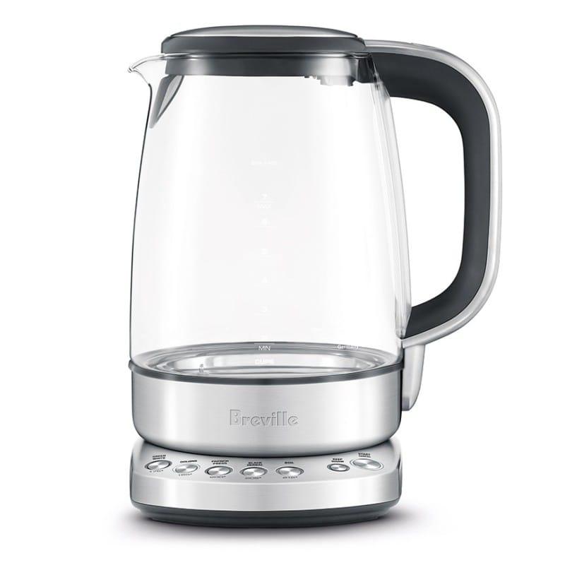 ブレビル ガラス電気ケトル 温度設定機能付 1.7L Breville BKE830XL The IQ Kettle Pure, Silver 家電