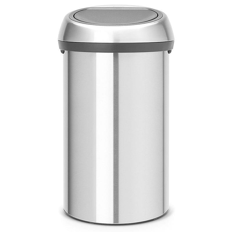 ブラバンシア ゴミ箱 60L ステンレス Brabantia Touch Trash Can 16 gallon/60 liter - Matte Steel Fingerprint-Proof, 484506