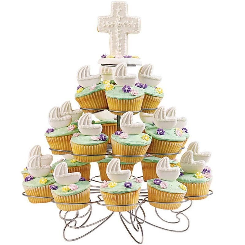 23 Count Metal Cupcake Stand with 4-Tiers