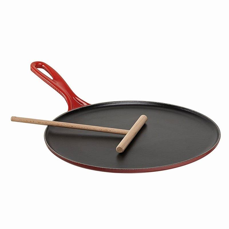 ルクルーゼ 27cm クレープパンLe Creuset Enameled Cast-Iron 10-2/3-Inch Crepe Pan