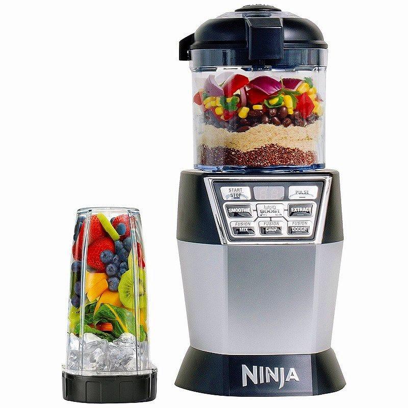 1台2役 ニンジャ Auto-iQ ミキサー フードプロセッサー デュオ Nutri Ninja Nutri Bowl Duo (Processor, Nutri Ninja Cups) NN102 家電