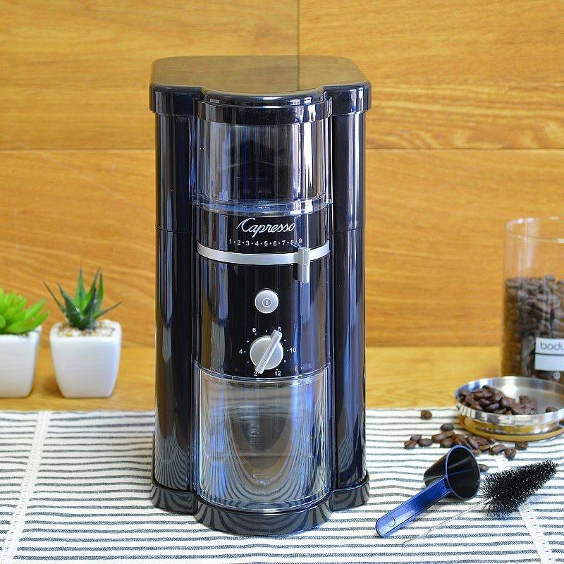 カプレッソ コーヒーミル グラインダー 豆挽き Capresso Disk Type Burr Grinder #580.01 家電