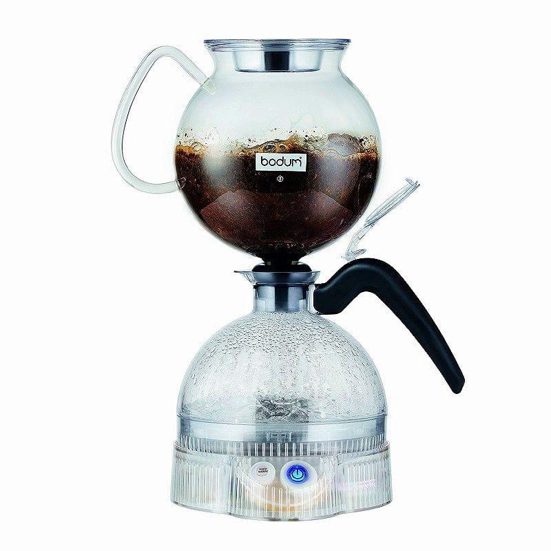 ボダム コーヒーメーカー サイフォン 8カップ Bodum ePEBO Coffee Maker, Electric Vacuum Coffee Maker, Siphon Coffee Brewer , Black, 34 Ounces 11744-01US 家電