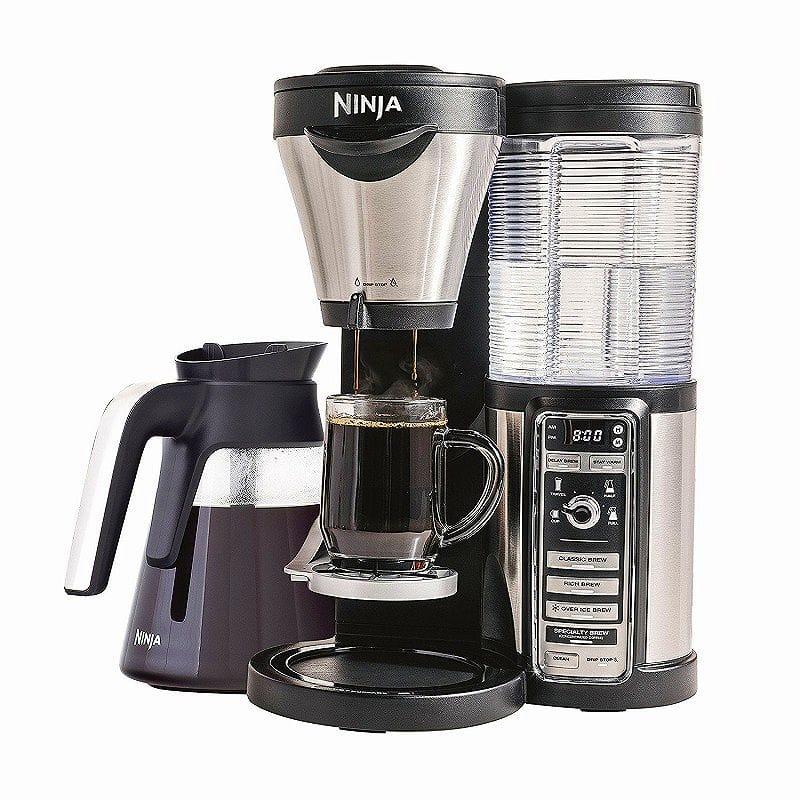 ニンジャ コーヒーバー コーヒーメーカー ガラスカラフェ Ninja Coffee Bar Brewer with Glass Carafe CF080Z 家電