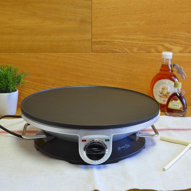クレープメーカー 直径33cm Morning Star Crepe Maker Pro 13 Inch Crepe Maker & Electric Griddle 家電