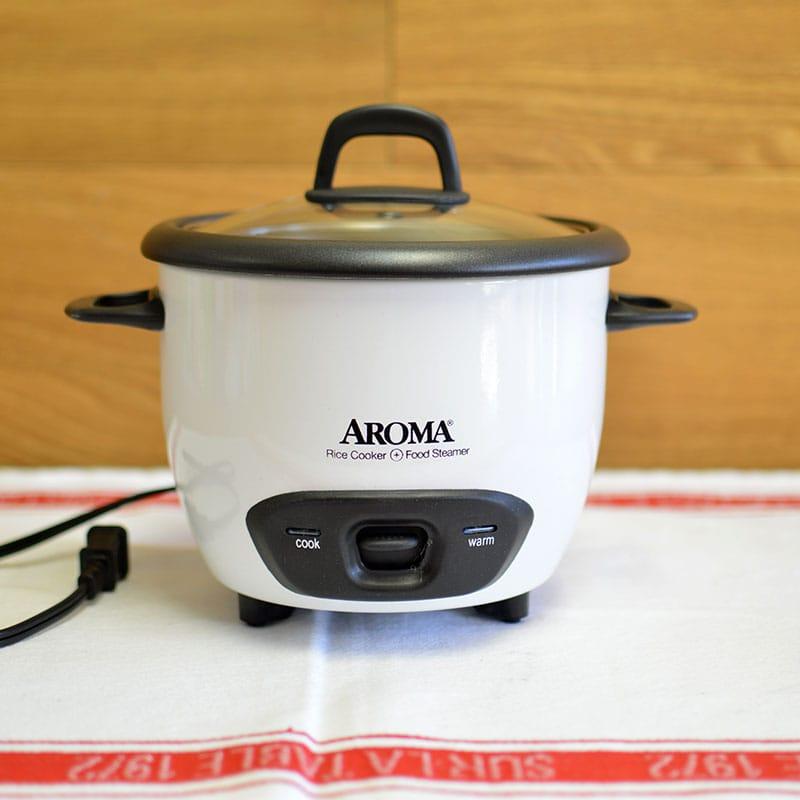 アロマ 6カップ 炊飯器 フードスチーマー ホワイト 白  Aroma ARC-743-1NG 3-Cup (Uncooked) 6-Cup (Cooked) Rice Cooker and Food Steamer White 家電