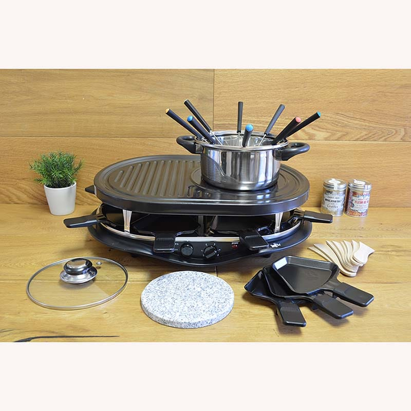 raclette grill fondue set ostseesuche com. Black Bedroom Furniture Sets. Home Design Ideas