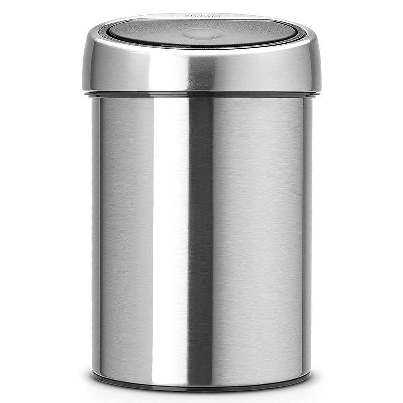【30日間返金保証】【送料無料】 ブラバンシア タッチオープン式 ゴミ箱 ベルギー製 Brabantia Touch Bin Fingerprint Proof