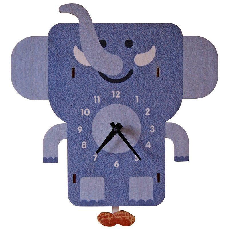 ウォールクロック 木製 振り子時計 壁掛け時計 ゾウ Modern Moose Elephant Pendulum Wall Clock