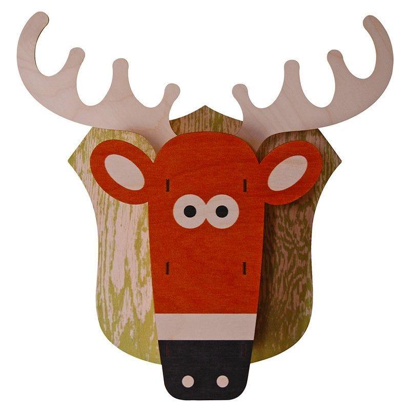 Decor Modern Moose 3Dウォールデコ 木製 壁飾り Wall 3D Deer