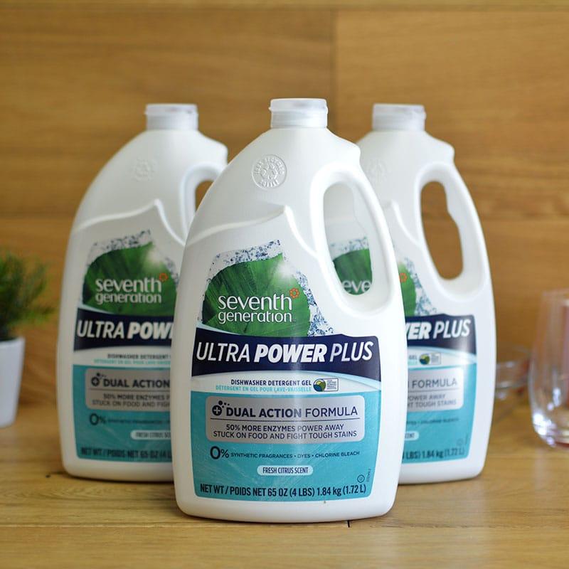 セブンスジェネレーション 食洗器用液体洗剤 フレッシュシトラス 1.72L×3本 Seventh Generation Ultra Power Plus Dishwasher Detergent Gel, Fresh Citrus Scent, 65 Ounce Bottle