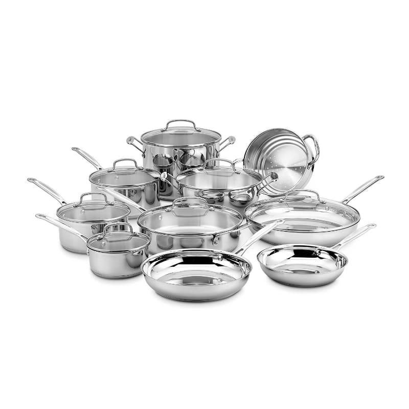 鍋 鍋 17点セット IH対応 クイジナート ステンレス フライパン フライパン Cuisinart 77-17N Chef's Chef's Classic Stainless 17-Piece Cookware Set, 創作和洋菓子 花えちぜん:c5f57cef --- sunward.msk.ru