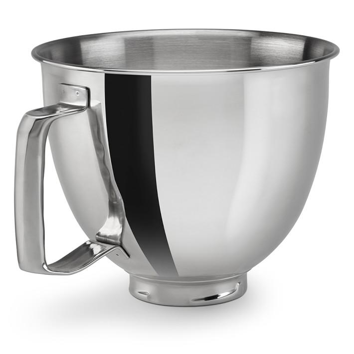キッチンエイド ステンレスボウル 取っ手 ハンドル付 ミニ スタンドミキサー用 KitchenAid Polished Bowl with Handle KSM35SSFP