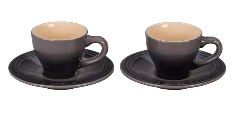 ル・クルーゼ エスプレッソ カップ&ソーサー 2客セット オイスター Le Creuset Set of 2 Espresso Cups and Saucers Oyster ルクルゼ ルクルーゼ コップ カップ