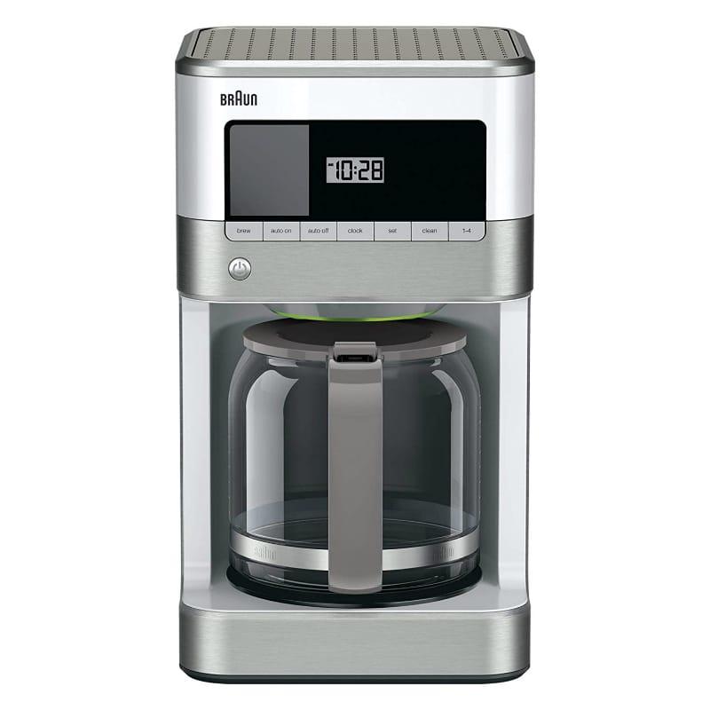 ブラウン コーヒーメーカー 12カップ デジタル プログラム 白 ホワイト Braun KF6050WH BrewSense Drip Coffee Maker 家電