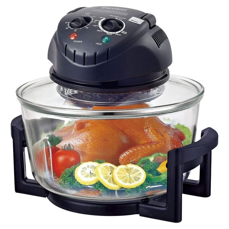 ハロゲン コンベクション ガラス オーブン Excelvan 12 Quart 1200W Halogen Tabletop Countertop Convection Cooking Toaster Oven,Matt Black 家電